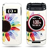 CoverON Yellow Blue Sunflower Hard Slim Case for Casio G'zOne Ravine 2 / Pantech C781 - with Cover Removal Pry Tool