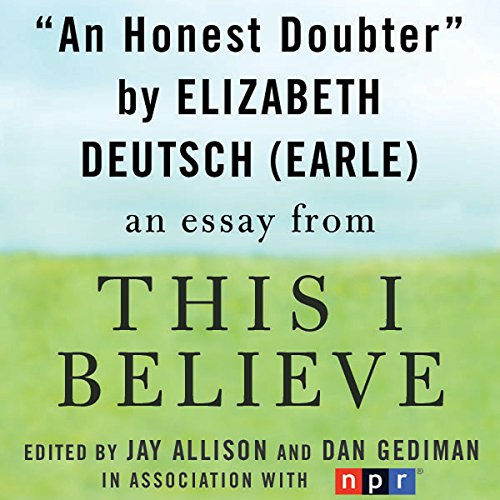 An Honest Doubter audiobook cover art