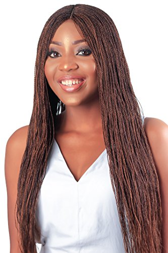 WOW BRAIDS Twisted Wigs, Micro Twist Wig - Color 30/33 mix - 22 Inches. Synthetic Hand Braided Wigs for Black Women.