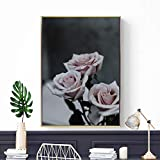 GJQFJBS Beautiful Blooming Roses, Nordic Wall Art Canvas Printing Poster Mural Decoración A2 40x50cm