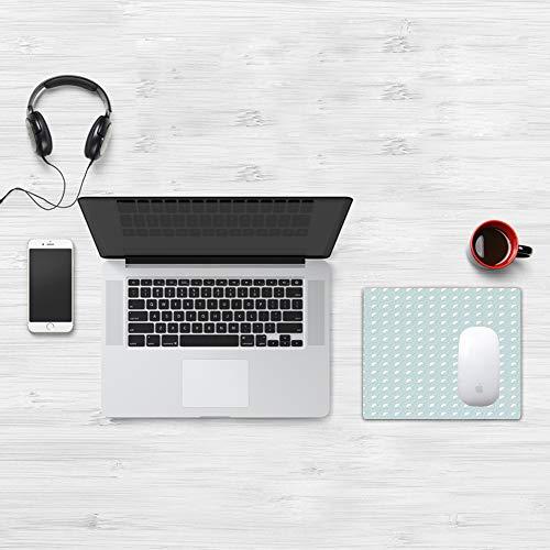 Mauspad Größe (32 x 25 cm),Weiß, verschachtelte überlappende Kreise Abstraktes Thema der aufg,Mousepad Design Extra stark vernähter Rand und gummierte Unterseite geeignet für Office und Gaming mauspad