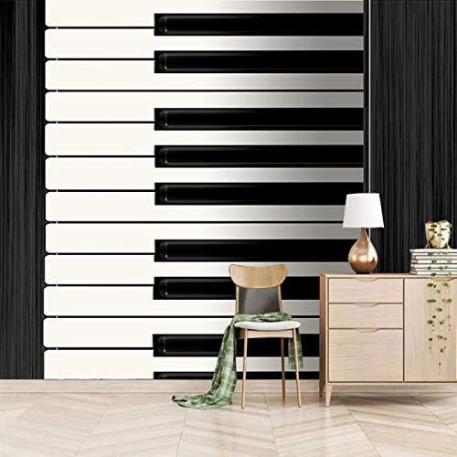 Dsromhgqi Hintergrundbild 3D 450x300cm Weiß Mode Musik Klavier Wohnzimmer Dekoration Schlafzimmer Wandkunst Wandbild selbstklebende Tapete Wandbild Kinder Jungen Mädchen 3D Hintergrund
