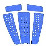 Caredy Almohadilla de tracción para Tabla de Surf 5 Piezas Eva Antideslizante Tabla de Surf Yate para Barco Almohadilla de tracción Grip Mat Skimboard Grip Pad Skimboard Grip Pad(Azul)