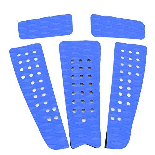 5pcs Almohadilla De Tracción Almohadilla De Tabla De Surf Eva Plataformas Antideslizantes Kayaks Paddle Mat (Blue)