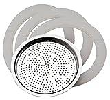 PEDRINI 02CF036.RG1Recambio 3Juntas + Filtro steelmoka 2Tazas, Aluminio,...