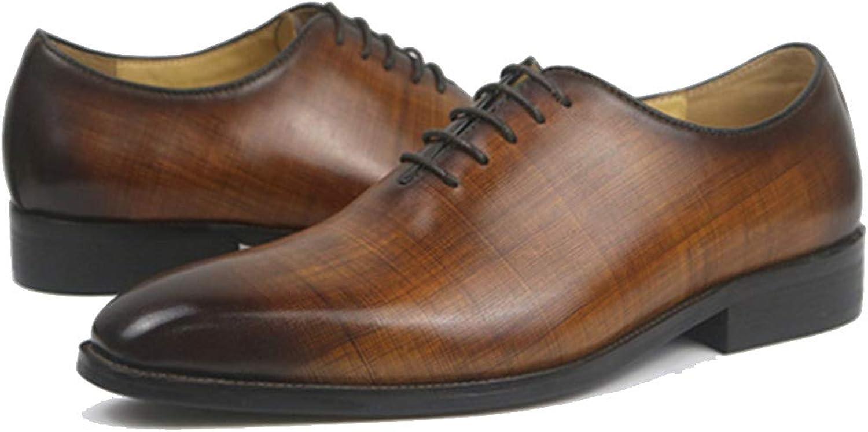 Snfgoij Oxford Chaussures Hommes Marron Mariage Lacets en Cuir Verni Chaussures Richelieu Chaussures habillées pour Les Hommes et Les Femmes