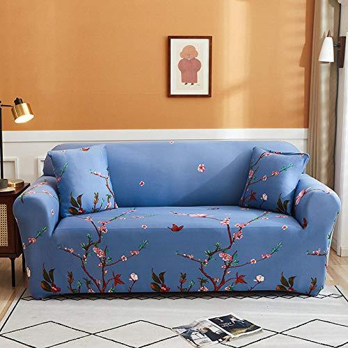 azul púrpurPrinting Stretch Sofá cubre universal sofá coverAll inclusive antideslizante sofá toalla 4 plazas