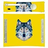 'Disagu SF de SDI de 3384_ 776Diseño Skin para Microsoft Xbox 360liegend–Diseño Wolf geométrico Amarillo Transparente