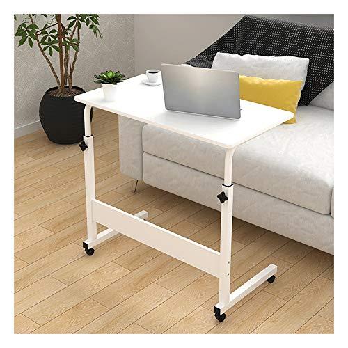 KKLL Table de chevet pour ordinateur portable, réglable en hauteur, facile à soulever et à déplacer, petite table de chevet simple et réglable (couleur : blanc, taille : 80 x 40 x (72–94) cm)