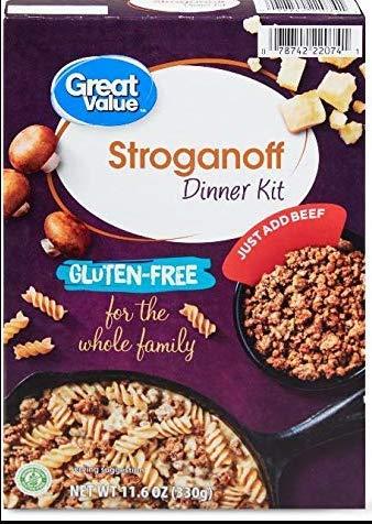 Great Value Gluten-Free Stroganoff Dinner Kit
