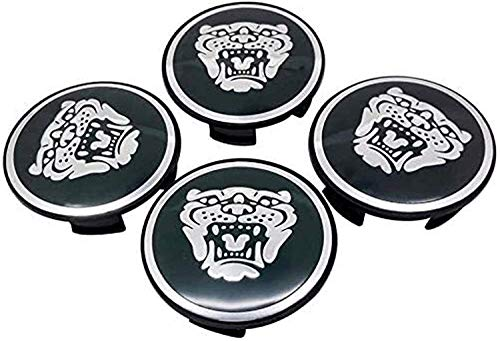 4 Piezas 58mm Tapas Centrales Llantas para Jaguar Xf Xj-S Xj-6 X-Type Xe S-Type F-Pace F-Type Xk8 Xk Xkr Xfr,Tapacubos Decoración con forma de coche resistente al agua y al óxido con logotipo de placa