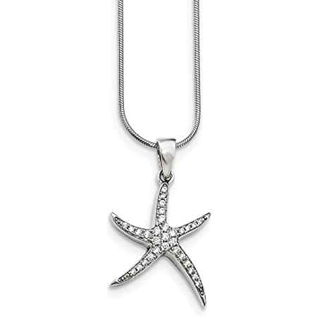 Star Fish  Sterling Silver 2-50 pcs  STARFISH Charm Pendant 15x10.5 mm  beach weddings sea creature ocean nature charm