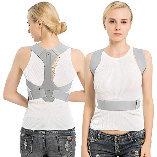 TURATA Haltungstrainer Rückenstütze Geradehalter zur Haltungskorrektur Verstellbare Rückentrainer Schulter Rücken Haltungsbandage gegen Rücken und Schulterschmerzen für Jugend Damen Herren (L)