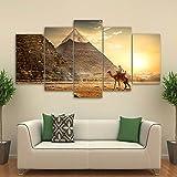 WMWSH Bilder Abstrakt 5 Teilig Wandbild Ägyptische