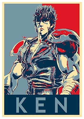 """Poster Hokuto no Ken """"Propaganda"""" Kenshiro - Formato A3 (42x30 cm)"""