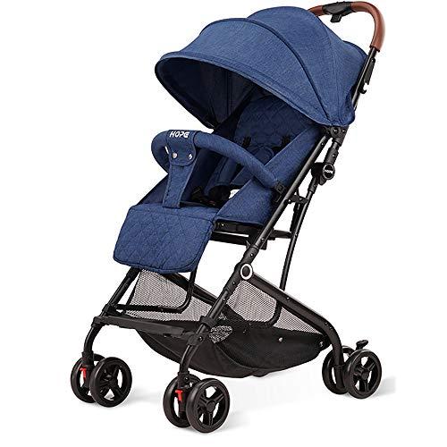 WANGLXBC lichtgewicht kinderwagen, compacte reisbuggy, met één hand opvouwbaar, vijfpunts harnas geweldig voor vliegtuig, schokbestendige kinderstoel