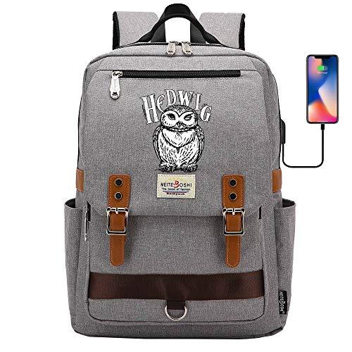 Hogwarts School Bag,Harry Potter Backpack,owl-Hedwig,Casual Outdoor Travel Rucksack 42 * 30 * 16CM Gray