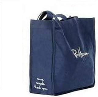 NELNISSA NELNISSA Nellnissa Nellnissa Damen-Handtasche aus Segeltuch mit Buchstaben, einfache große Einkaufstasche dunkelblau