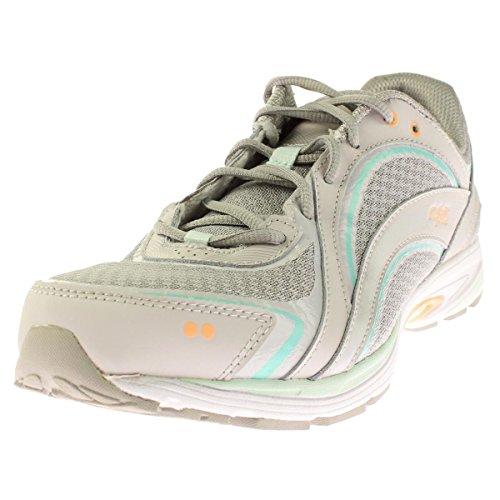 RYKA SKY WALK Walking Shoe, Chrome Silver/Cool Mist Grey/Mint Ice, 5 M US