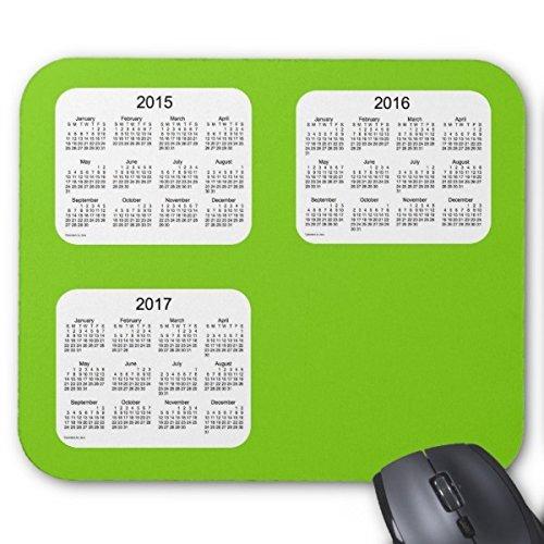 Rechteck mauspads 2015-2017 kalender von janz yellow green mousepad