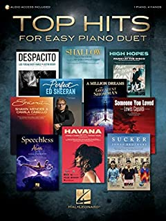 Top Hits for Easy Piano Duet with Recorded Accompaniments: 1 Piano, 4 Hands