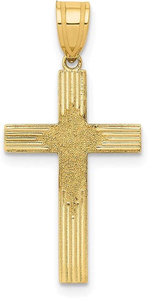 Charm Pendant 14K Yellow Gold 26 Max 90% OFF Laser mm Ranking TOP19 13 Designed Cross