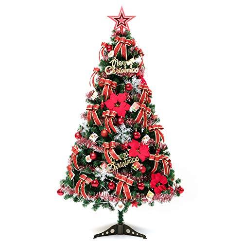 Artificial Árbol De Navidad Conjunto Decoraciones PVC 180Cm Luces Venta Stand Adornos Con Decoración Linterna Árbol Superior