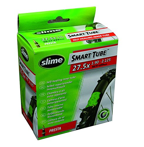 Slime 2 x Bike Inner Tubes 27.5 x 1.90-2.125 650B Mountain Bikes Schrader Valves Filled To Instantly Seal And Repair Punctures