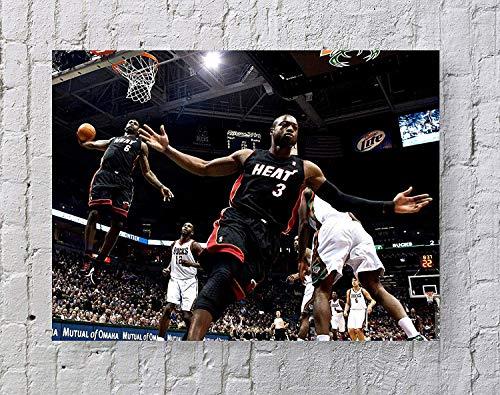 Standard NBA Lebron James Dwyane Wade 20''x16'' Unframed Poster Print (A)