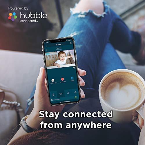 Motorola Peekaboo - Cámara de Video para Bebés Full HD WiFi con Luz Nocturna - Temperatura, Panorámica, Escaneo, Zoom, Inclinación, Conversación de 2 Vías, Nanas - Storage Local y Cloud - Blanco