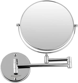 Excelvan Magnification 8 Inch Double-Sided Swivel Wall Mount Makeup Mirror (10X)
