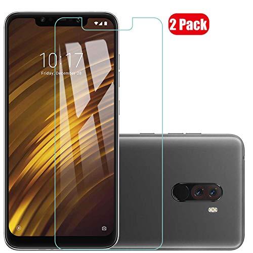 Voviqi Xiaomi POCOPHONE F1 Panzerglas, 9H verbesserte gehärtetes Glas Folie [Blasenfrei] [Anti-Fingerabdruck] Bildschirmschutzfolie für Xiaomi POCOPHONE F1, 2 Stück