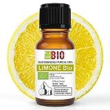 limone di sicilia bio olio essenziale 100% puro 30 ml - uso interno terapeutico alimentare diffusori aromaterapia cosmetica cucina - laborbio