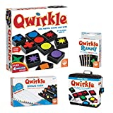MindWare Complete Qwirkle Family Game Pack: Qwirkle, Qwirkle Travel, Qwirkle Rummy, and Qwirkle Bonus Pack