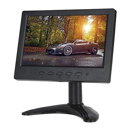 Eyoyo Moniteur Ecran 7 Pouces TFT LCD HDMI 1024x600 Haut-parleurs intégrés avec Entrée HDMI VGA BNC AV pour Système de vidéosurveillance et Voiture (7 Pouces 1024X600)