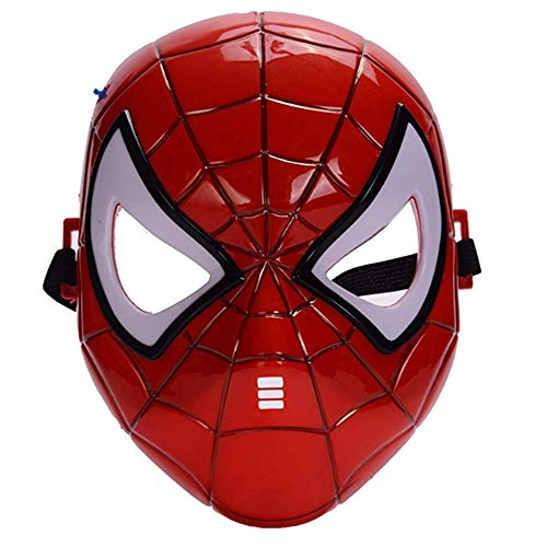 morningsilkwig máscara Spiderman cómics Traje superhéroe máscara de Ojos Marvel Spiderman héroe niños' Spiderman máscara Brillante