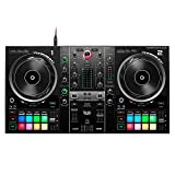 Hercules DJControl Inpulse 500 (2-Deck DJ Controller, Beatmatch Guide, IMA, 16 RGB Pads, integr. Soundkarte/Mixer, Mic-In, DJ Academy, DJUCED & Serato DJ Lite, PC / Mac)