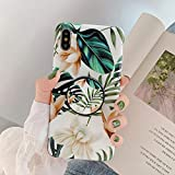 KABIOU Retro Floral Leaf Phone Case With Holder For Huawei