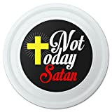 GRAPHICS & MORE Not Today Satan Cross Christian Religious Novelty 9' Flying Disc
