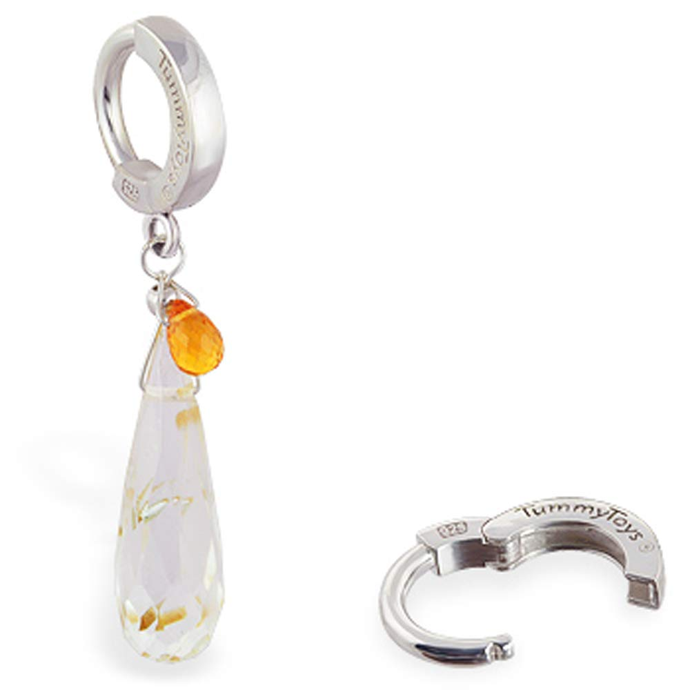 Quartz New arrival and Citrine Belly Ring are Handmade women USA Tulsa Mall by in the s