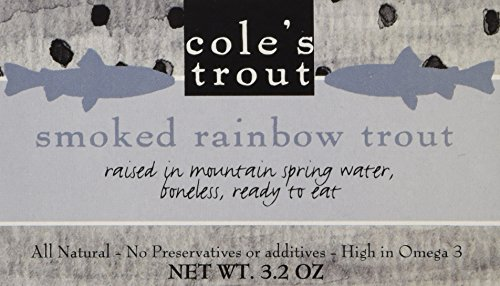 COLES TROUT SMOKED, 3.2 OZ, Pack of 3