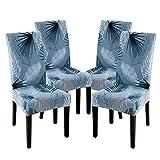 laamei Fundas de Sillas Comedor Elásticas Extraíbles y Lavables Chair Covers Fundas Protectora de Sillas para Comedor Cocina Salón Hotel Decor