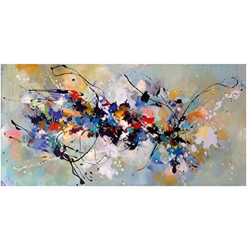 OUER Impression sur Toile Art Moderne Graffiti Couleur Abstraite Peinture à l'huile, Art Mural Peinture Affiche Tableau, décoration de Salon sans Cadre,60x120cm