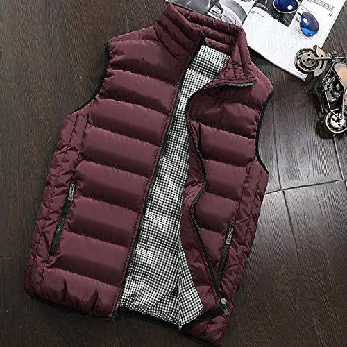 LYLY Vest Women Autumn Winter Vest Men Casual Outwear Warm Sleeveless Jackets Male Fashion Waistcoat 5XL Vests Gilet Vest Warm (Color : Burgundy, Size : XXL)