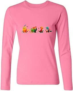 Womens Pocket Monster Long-Sleeve Cotton T-Shirt XXL