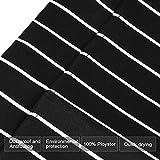 DECARETA 2 Stücke Kochschürze mit 2 Taschen, Premium Küchenschürze, Verstellbare Grillschürze für Männer, Frauen, Keller, Chef (Schwarze und weiße Streifen) - 2
