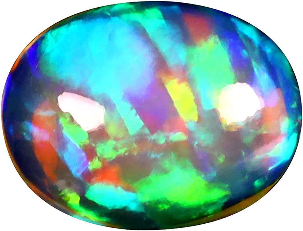 2.74 Clearance SALE! Limited time! ct OVAL store CABOCHON 12 X mm 360 10 DEGREE FLASHING ETHIOPIAN