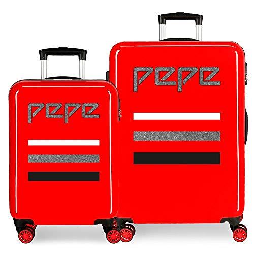 Pepe Jeans, Juego de Maletas, 55-68cm, 104 litros, Rojo
