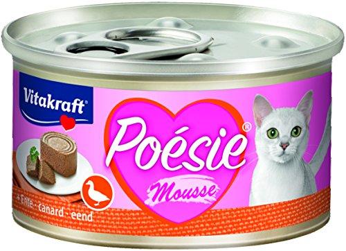 Vitakraft Nassfutter Katze Poesie Dose,Ente,Mousse, 12x 85g