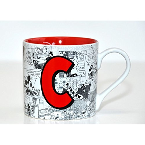 Disneyland Paris Mickey Mouse Comic-Style Print Mug with Letter C